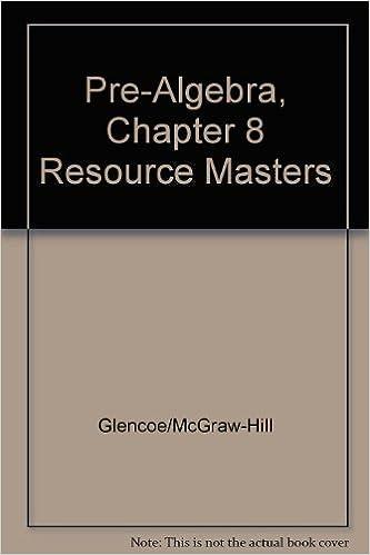 Pre Algebra Chapter 8 Resource Masters Glencoe McGraw Hill