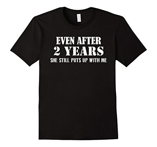 Men's Funny Anniversary Gifts For Him - 2 Years Anniversary Gifts Medium Black