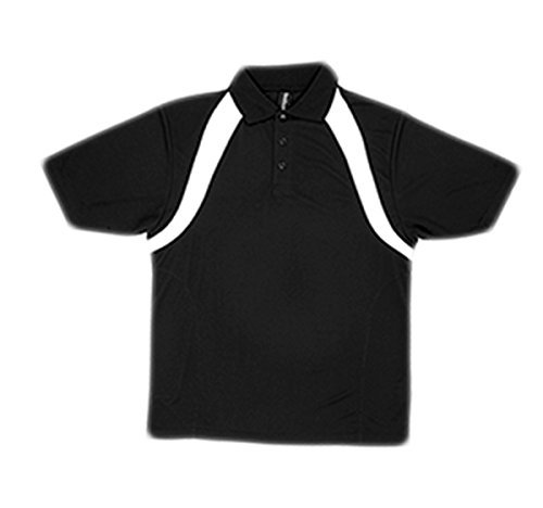 Reebok Mesh Polo Shirt - Reebok Men's PlayDry Athletic Performance Polo Shirt, Black/White, X-Large