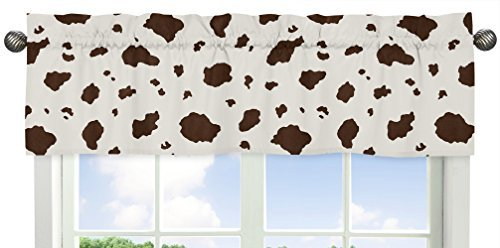Cowboy Valance (Sweet Jojo Designs Cow Print Window Valance for Wild West Cowboy Western Collection)
