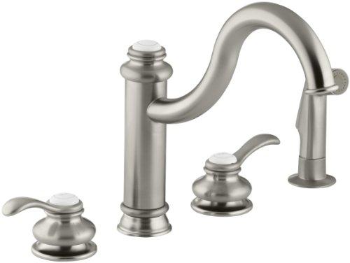 KOHLER K-12231-BN Fairfax High Spout Kitchen Sink Faucet, Vibrant Brushed Nickel