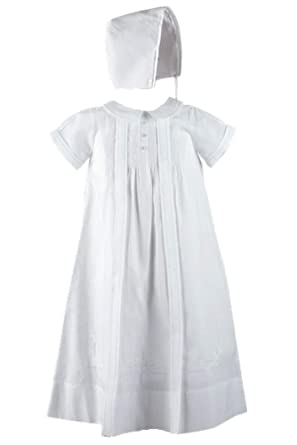 1ef81862151 Image Unavailable. Image not available for. Color  Feltman Brothers 9  Months Baby Boys White Embroidered Christening ...