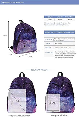 Shopping Geometric Bag Women's Pencil Case 1 Backpack Rucksack And Bag Pattern ZHANGQIAN Casual Galaxy School Travel Girl's fSqxAgF