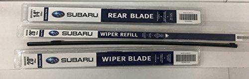 (2008-2014 Subaru Tribeca Front & Rear Windshield Wiper Blade Refill Set Genuine)