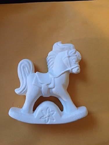 Amazon.com: Rocking Horse Ornament - Unpainted Ceramic Bisque.: Handmade