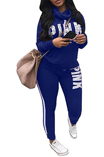 2 Piece Jogger (Pink Queen Women Turtleneck Sweatshirts and Sweatpants Two Piece Jogger Set)