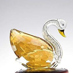 Crystal Swan Figurine with Rhinestones