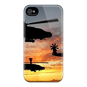 Tpu Case For Iphone 4/4s With Boeing Apache Attack Helicopters