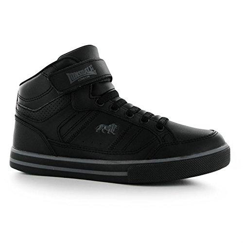Lonsdale Canons Kinder Turnschuhe Schnuerer Freizeit Sport Schuhe High Sneaker Black/Charcoal