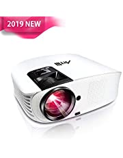 Artlii HD Projector, Home Cinema HDMI Projectors, Support 1080p Video Projector for DVD, Netflix, Youtube, Laptop with HDMI USB VGA Connection
