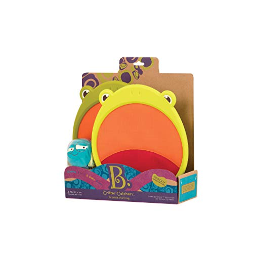 B toys by Battat – Critter Catchers Frankie the Frog – Ball and Catch Game Set for kids 3+  (3-Pcs)