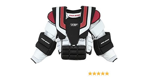 New Sherwood T95 Goalie Arm Chest Protector Sz Sr Small Size Senior