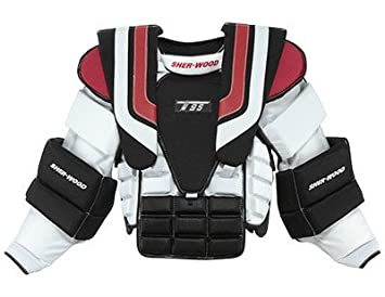 5202c1b3315 New Sherwood T95 goalie arm chest protector sz Sr small size senior S ice  hockey