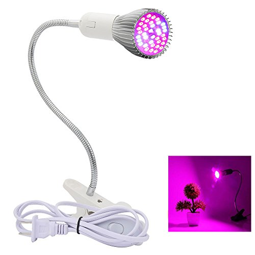 Price comparison product image LED Plant Growing Light,Clip Desk Growing Lamps E27 Base with 360 Degree Flexible Neck for Greenhouse Indoor Plant Vegetables Flower Hydroponic System