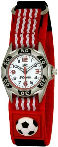 Ravel - Kids Red And White Football Velcro Watch R1507.17