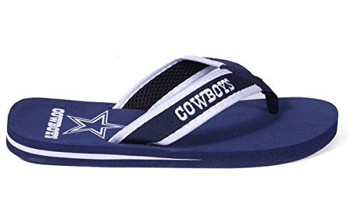 Forever Samle Offisielt Lisensiert Nfl Kontur Flip Flops - Happy Feet Og Behagelige Føtter Dallas Cowboys Høyde