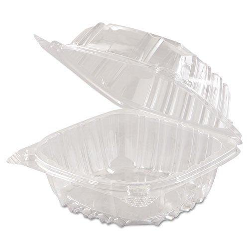 Clamshell Container Small, Clear Hinged Lid 6x6