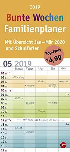 Familienplaner Bunte Wochen - Kalender 2019