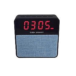 Portable Bluetooth Speaker USB Music Sound Wireless MP3 Player Digital Clock Light Blue Ameesi