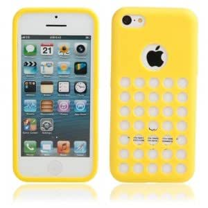 Hollow Style Protective TPU Case for iPhone 5C Yellow