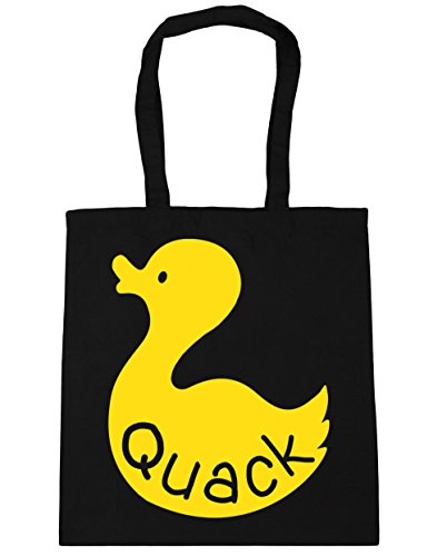 Gym 10 Shopping Bag Beach HippoWarehouse 42cm Duck Black x38cm Tote litres Quack qwBFFIzO