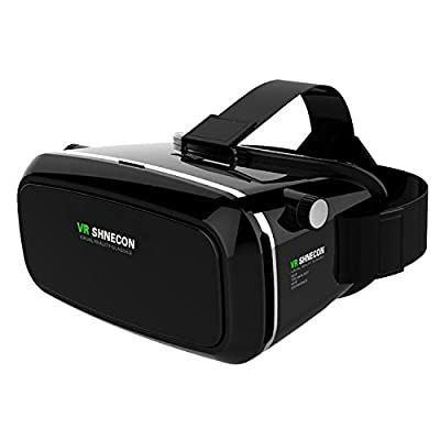 Shinecon VR Headset Virtual Reality 3D Glasses with Pupil Focal Distance Adjustable Suitable for Google/iPhone/Samsung Note/LG/Huawei/HTC/Moto Screen