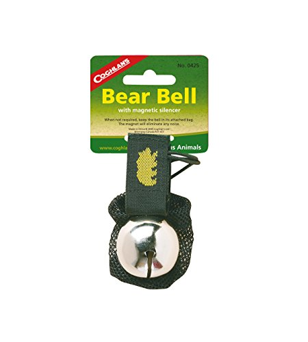 Bear Repellent Spray - Coghlan's Bear Bell with Magnetic Silencer, Black