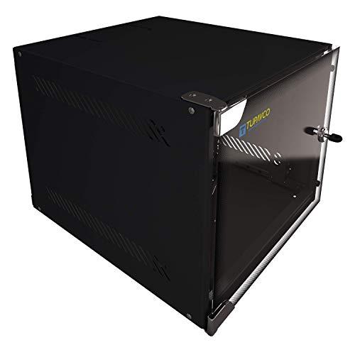 "Portable 10"" Network 4U -Tupavco TP1524- SOHO Floor/Wall Mount Compact Inch CCTV Server Rackmount Door Secured Lock"
