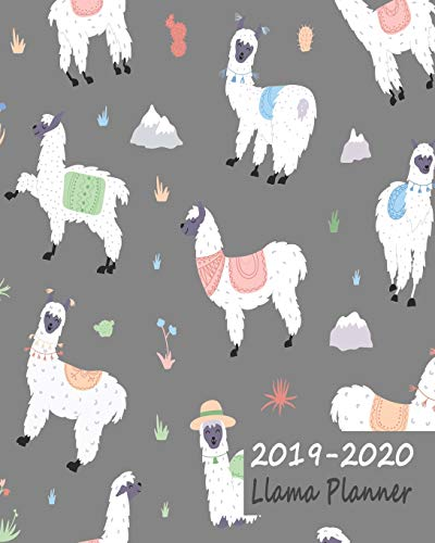 2019-2020 Llama Planner: Large Weekly Journal & Notebook