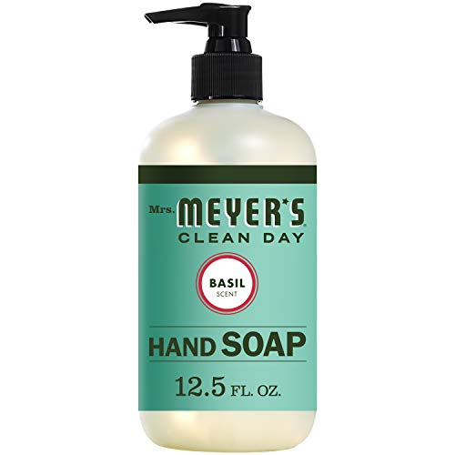 Basil Soap Hand (Mrs. Meyer's Clean Day Liquid Hand Soap, Basil Scent, 12.5 ounce bottle)