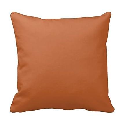 Amazon.com: Burnt Orange Throw Pillow Case: Home & Kitchen