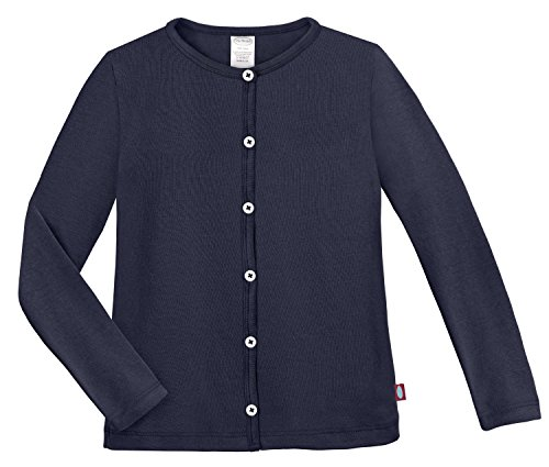 City Threads Girls Cardigan Top Button Down Sweater Layering School Play For Sensitive Skin SPD Sensory Friendly, Navy, 4T by City Threads