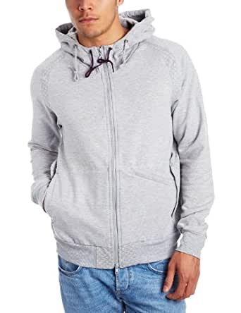 Reebok Mens CL M Zip Heather Grey Hooded Zip Up Hoody, Size XS