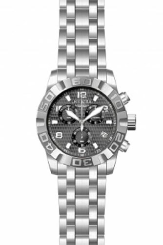 Invicta 11458 Mens Stainless Steel Case and Bracelet Chronograph Gray Dial Date Display Watch by Invicta