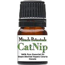 Miracle Botanicals Catnip Essential Oil - 100% Pure Nepeta Cataris - Therapeutic Grade - 2.5ml