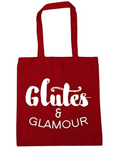 HippoWarehouse Glúteos y Glamour bolsa de la compra bolsa de playa 42cm x38cm, 10litros Classic Red