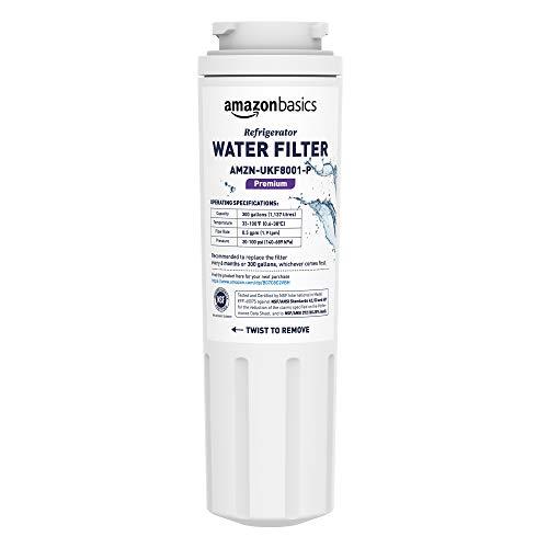 (AmazonBasics Replacement Maytag UKF8001 Refrigerator Water Filter Cartridge - Premium Filtration)
