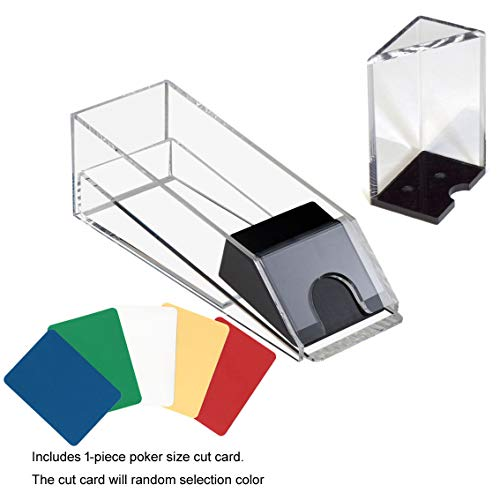 GSE Games & Sports Expert Acrylic Blackjack Dealing Shoe/Discard Holder Tray (2-Deck to 8-Deck) (8 Deck Blackjack Combo Set)