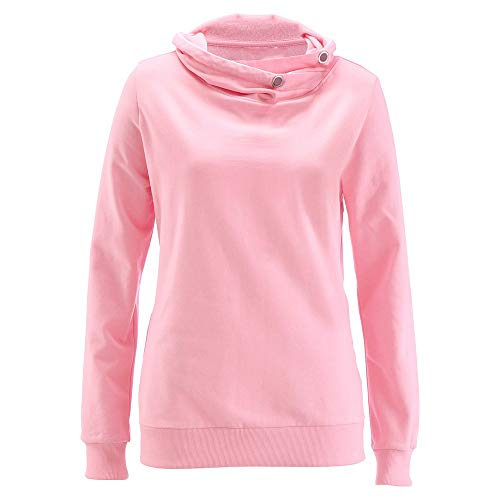 chengzhijianzhu Women's Shirts Blouses Casual Turtleneck Cashmere Sweatshirts Tops Solid Color Loose Sweaters Jumpers