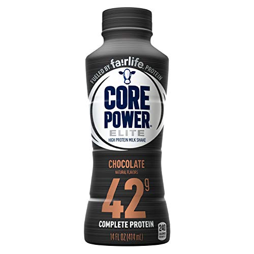 Core Power by fairlife Elite High Protein (42g) Milk Shake, 14 fl oz bottles, (Pack of 12) (Chocolate) (Shake Power Protein Core)