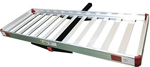 MaxxHaul 50138 60 x 22 Aluminum Cargo Carrier Rack Basket for Luggage for SUV Truck Car Van-500 lbs. Capacity