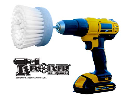 - Revolver Drill Brush - Power Scrubbing Drill Attachment - Multi-Purpose Cleaning Tool