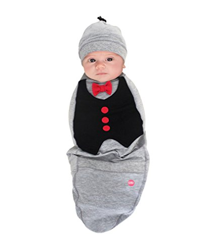 Cozy Cocoon - Baby Cocoon Swaddle and Matching Hat- Big Shot Baby - 0-3 (Cozy Cocoon Baby)