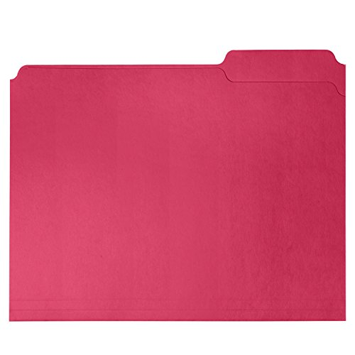 File Folder, 1/3 Cut Tab, Letter Size, Red, Great for organizing and easily file storage, 100 Per Box Photo #3