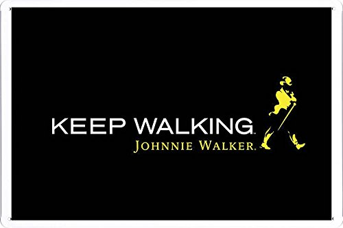 Walker Johnnie Whisky (Tin Sign Metal Poster Plate (8