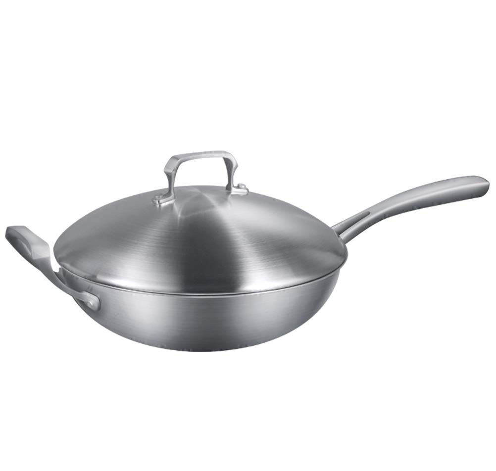 WYQSZ Wok - Non-stick pan to reduce smoke home multi-function cooking pot exquisite and durable wok -fry pan 2365 (Design : B)