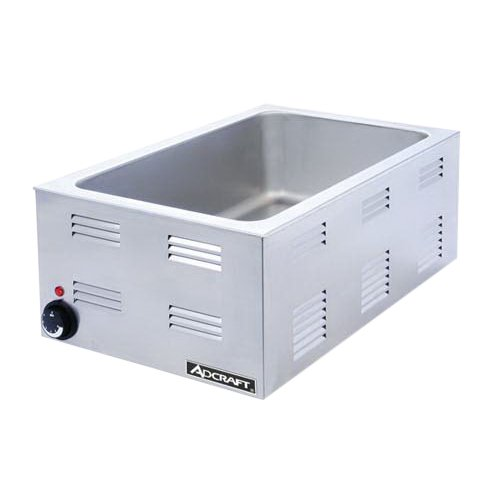 Adcraft FW-1200W Electric Full-Size Countertop Food Warmer, Stainless Steel, 1200-Watts, 120v from Adcraft