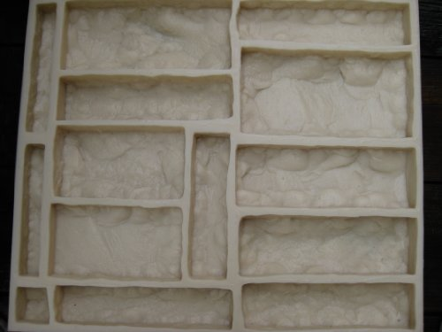 Concrete Mold. Veneer Castle Stone Rubber Mold 3001