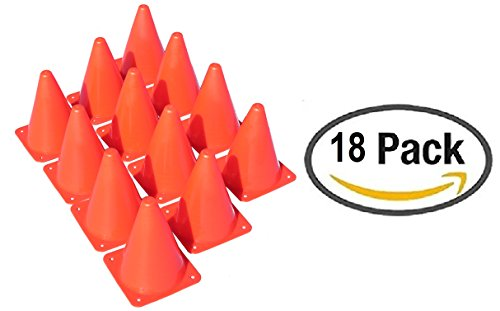 18 Orange Plastic Traffic Cones with Carry On bag by Oojami (Cones Traffic Plastic)