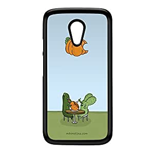 Rabtus and Cumber Pumpkin Black Hard Plastic Case for Moto G2 by Miki Mottes + FREE Crystal Clear Screen Protector